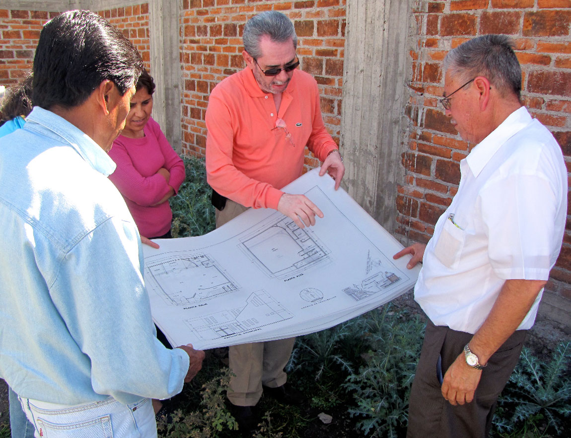 Blueprints for a UB church in Mexico