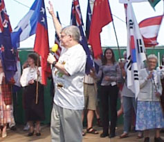 Dave Jackson at a Christian Endeavor Convention in Germany