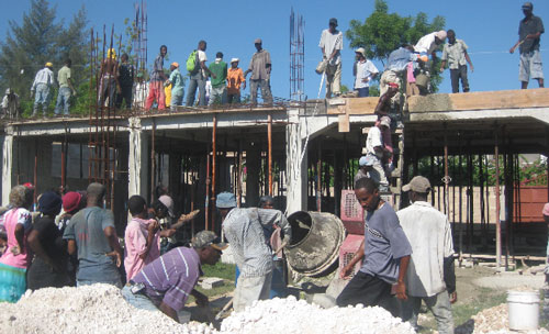 Construction on the Delmas Church and Conference Center in Haiti