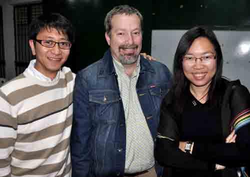 L-r: Ajiax Wo (Hong Kong Superintendent), Jeff Dice (UB missionary), Karis Vong (Hong Kong delegate).