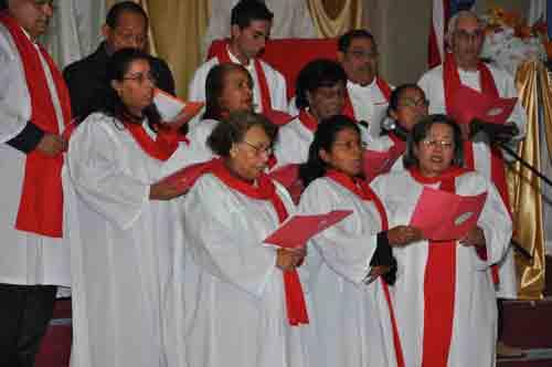 The accapella choir.