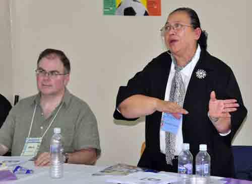 Juanita Chavez, Honduran superintendent, talks about her country's long-range plan.