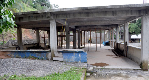 A side view of the future camp cafeteria. An upper level will be added with meeting space.