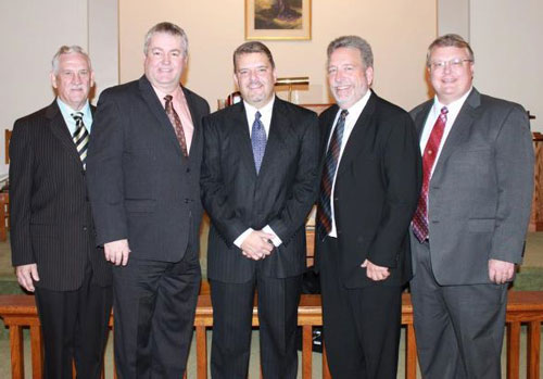 L-r: Daniel Lam, Phil Whipple, Todd Lilley, Dennis Sites, and Kevin Dagget.