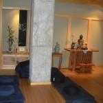 Inside the Buddhist chapel.