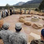 2011 Dedication of Cadet Chapel Falcon Circle.