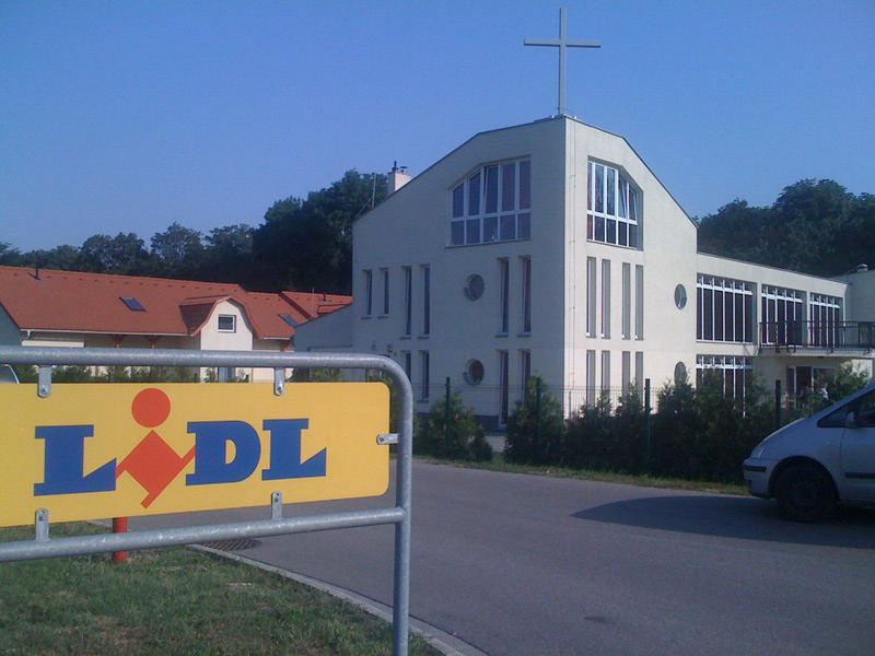 The church and supermarket in partnership.
