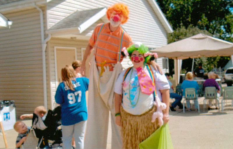 Clowns at the Shepherd of the Valley community festival