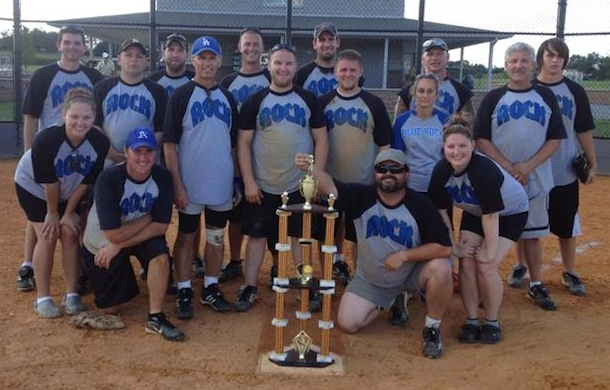 Blue Rock's winning softball team.
