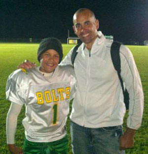 Ethan Conley (left) with his father, Seth.