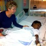 Nurse Margie Blackler with Hermmy.