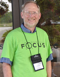Dan Paternoster, serving as a greeter at the 2011 US National Conference.