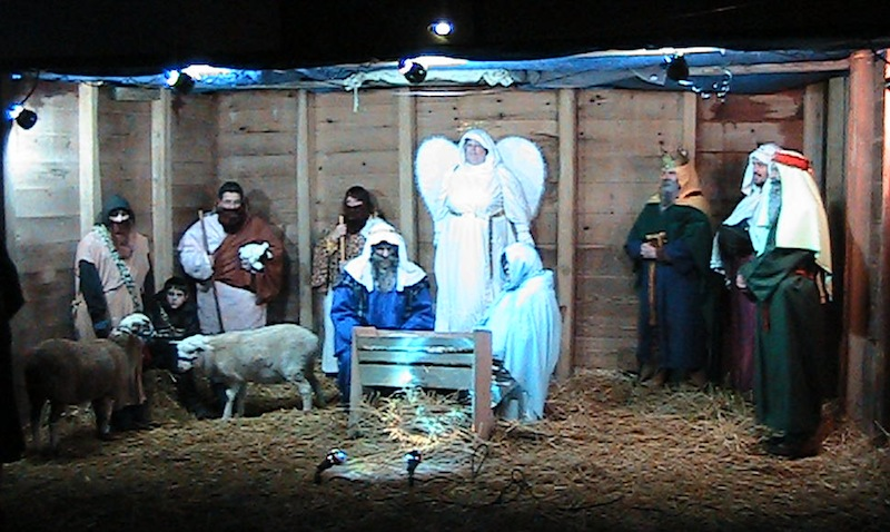 Live nativity at Alvordton UB church.