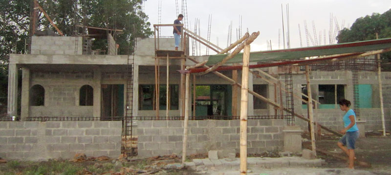 The new dormitory under construction in Masaya, Nicaragua.