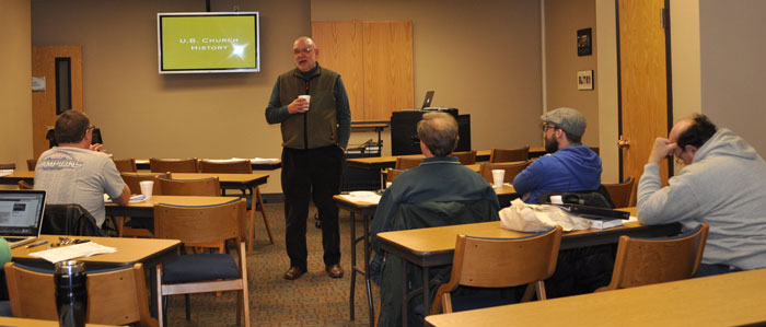 Bob Bruce is a frequent teacher of the UB history courses, which are held regionally.