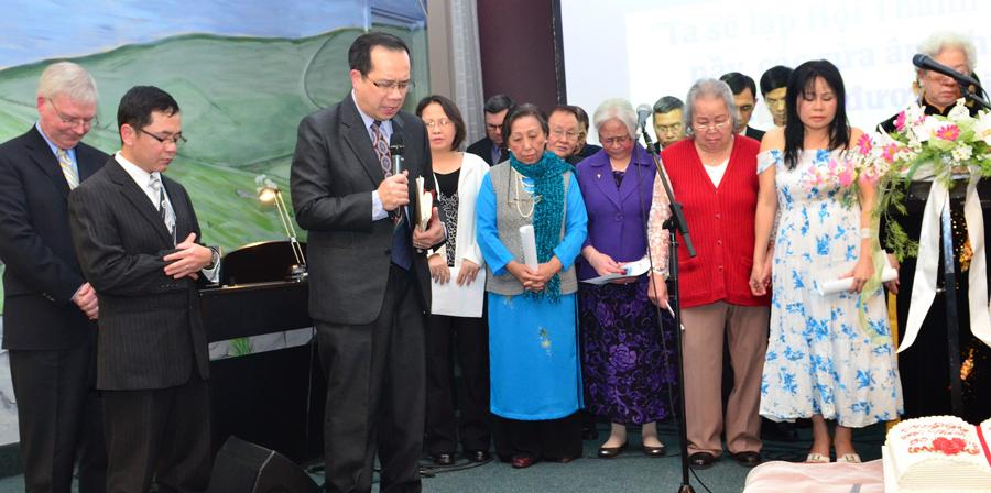 Dedication prayer for the new church.