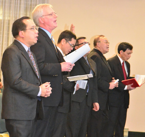 Leaders of the Vietnamese congregation.
