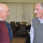 Former bishops C. Ray Miller (left) and Ron Ramsey, both of whom serve on staff at Emmanuel Community Church (Fort Wayne, Ind.), make regular contacts with the cluster leaders.