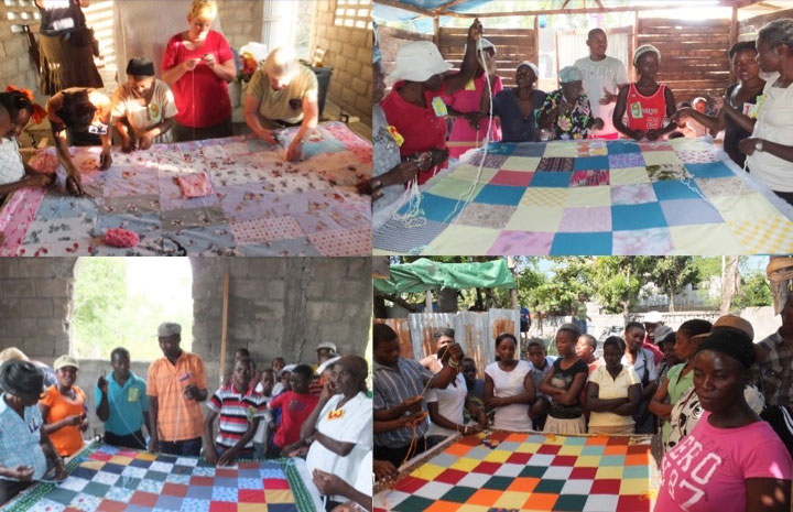 Making quilts at Cayes and Grand Saline