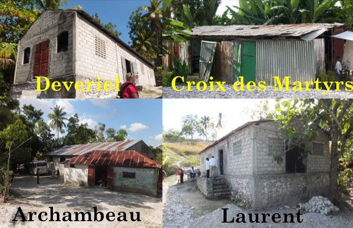 The for locations where clinics were held in Cayes.