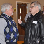 Former UB pastor George Kuntzman (left) and Mark Ralph, senior pastor of Mount Zion UB (Wayne, Ohio).