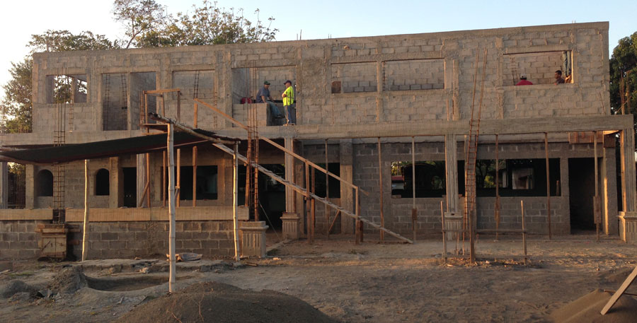 The conference center in Masaya, Nicaragua, as of February 2013.