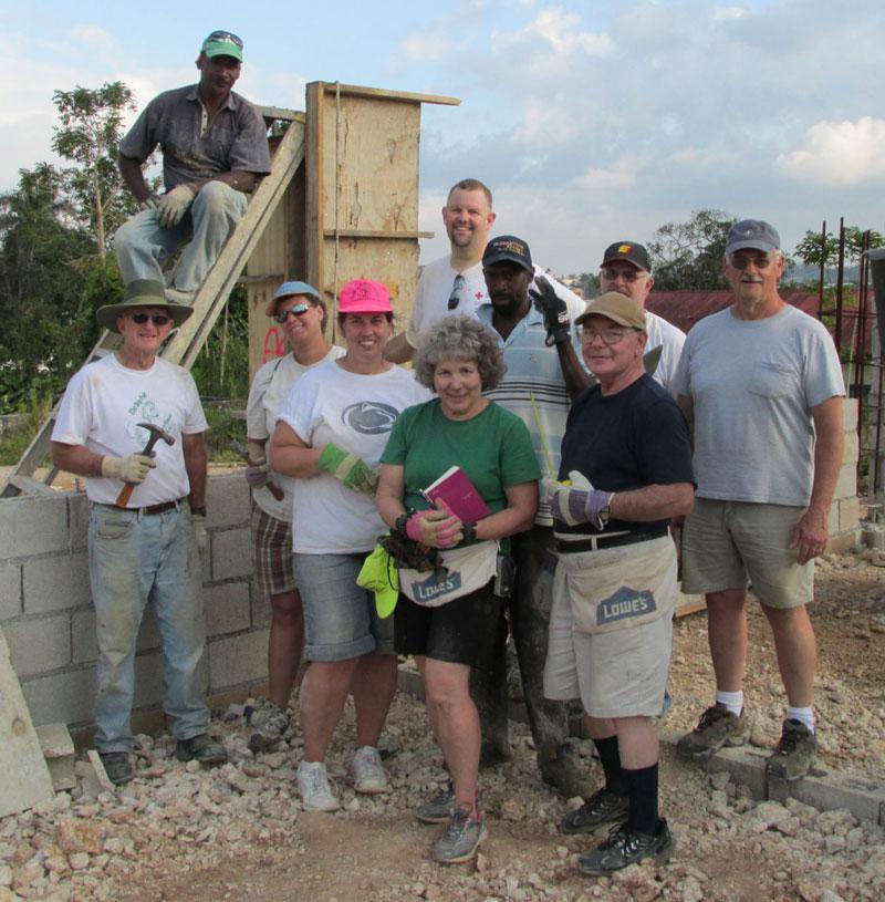 The work team from Salem UB church (Chambersburg, Pa.).