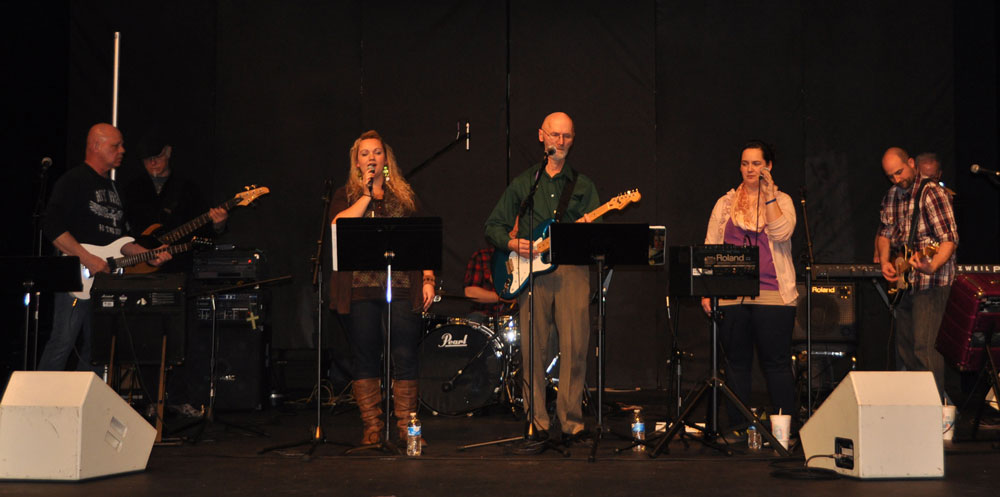 The Anchor worship team leading the music part of the service. (click to enlarge)