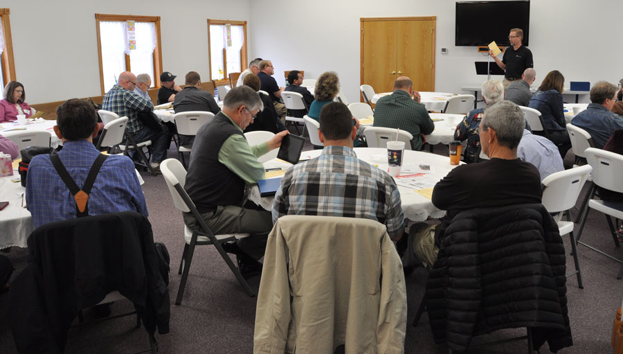 Jeff Bleijerveld giving an update on Global Ministries.