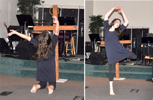 """Julia Vergon of Anchor presented a beautiful dance to the song """"Once Again"""" during the Easter morning service."""