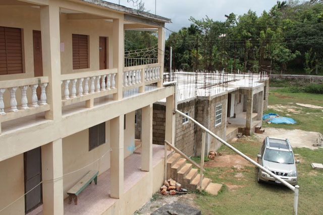 The new dormitory at Malvern Camp, though unfinished, was used during Jamaica National Conference this spring.