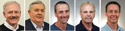 Members of the nominating committee (l-r): Kevin Cherry, Jody Harr, Craig Burkholder, Greg Helman, Randy Carpenter.