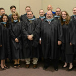 Dr. Dave Rahn (standing in back) with recipients of the Masters in Youth Ministry Leadership.
