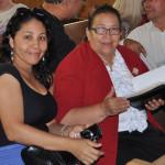 Honduran delegates Damaris Canales (left) and Superintendent Juanita Chavez.
