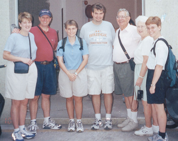 The Dowdens (left) twice spent sabbatical time with UB missionaries in Macau.