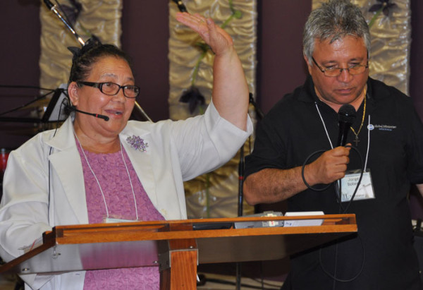 Juanita Chavez, superintendent of Honduras Conference, preached at Mill Crossing.