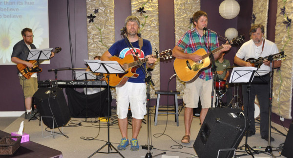 The Mill Crossing worship team.