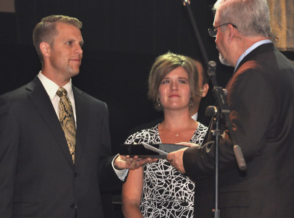 Todd and Julie Rupp with Bishop Whipple.