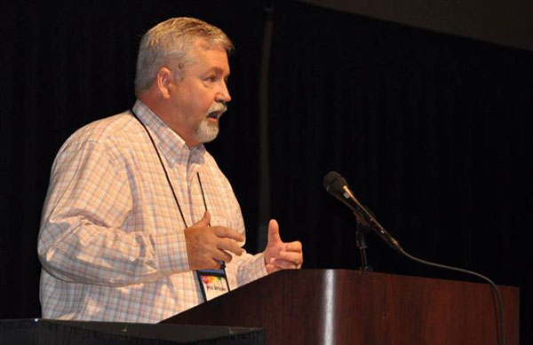 Bishop Phil Whipple chaired the meetings of the US National Conference business meeting.