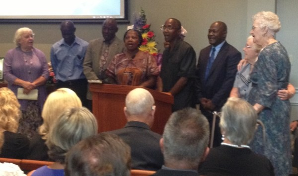 The African Choir at the funeral of Ruth Benner on August 7.