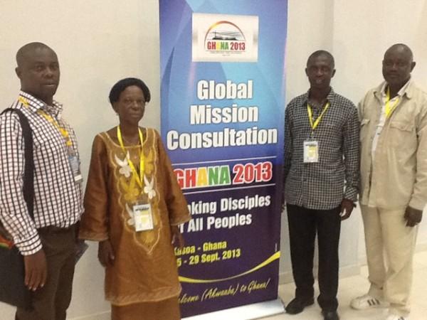 Delegates from Sierra Leone at the Ghana 2013 conference. L-r: Mr. Edward Jusu Jr., Mrs. Sally Conteh, Bishop John Pessima, Mr. James Abdulie.