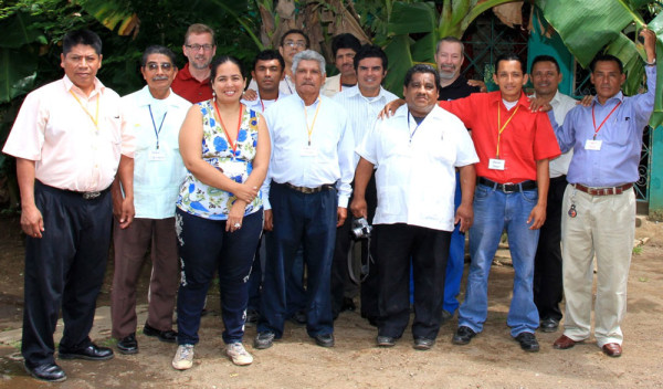 The three North Americans with the Nicaraguans who participated in five days of small business training.