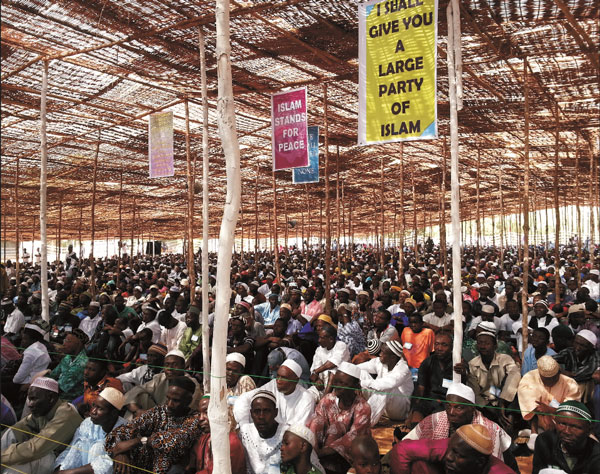 At a Sierra Leone Muslim conference in 2013.