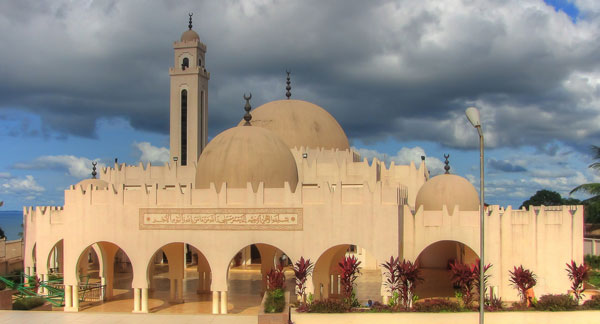 Freetown Central Mosque, built by former Libyan dictator Muamar Gaddafi.