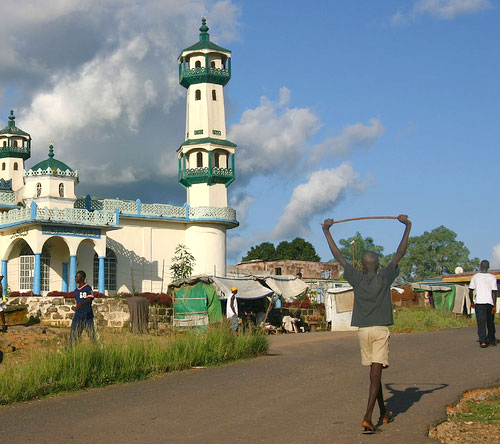 The mosque in Kono