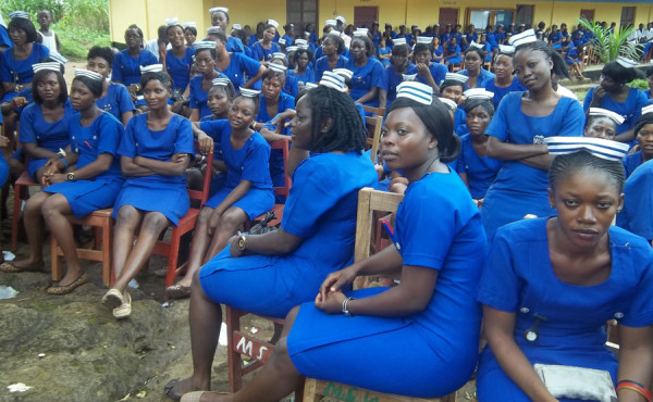 Some of the nursing students at Mattru.