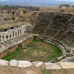 An ancient amphitheater.
