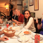 Eating with the IN Network team in Turkey.