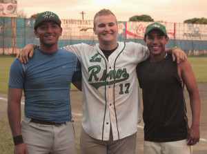 Austin Clem and two Nicaraguans.