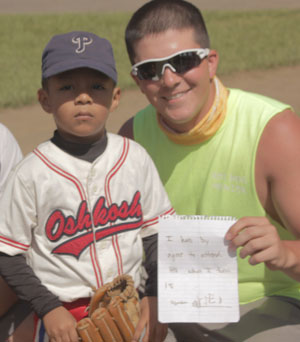 Dustin Rutledge and a Nicaraguan boy.